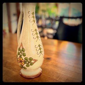 Vintage Boho Pottery Pitcher Flower Bud Vase 🌸